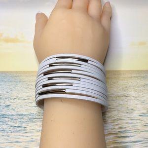 White Punk Bracelet